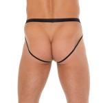Mens Black Pouch With Jockstraps