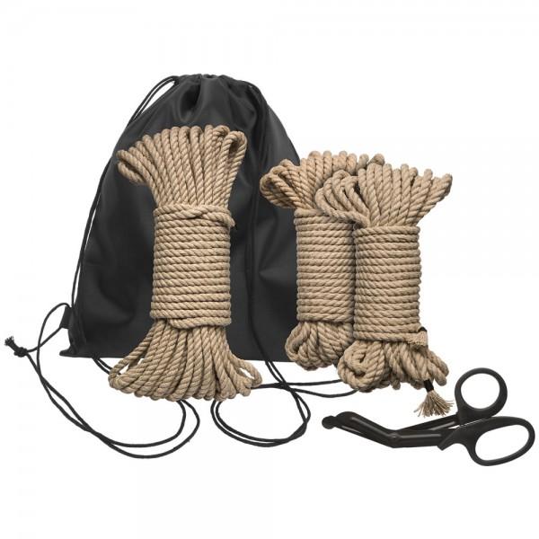 Kink Bind And Tie Initiation 5 Piece Hemp Rope Kit BDSM
