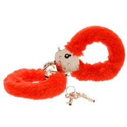Toy Joy Furry Hand Cuffs Raunchy Red
