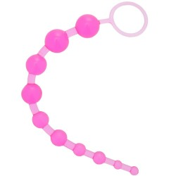 Pink Anal Beads X10