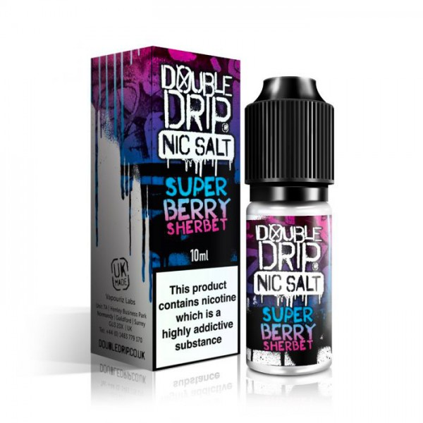 Double Drip Nic Salt Super Berry Sherbet 20mg 10ml
