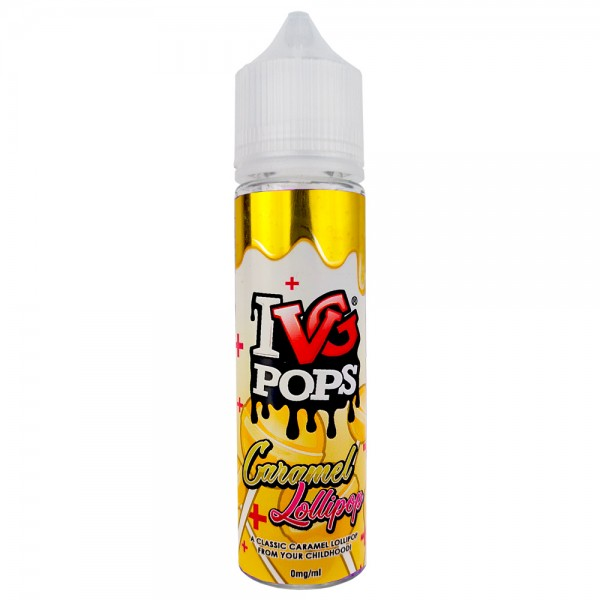 IVG ELiquid Pops Caramel Lollipop 0mg 50ml