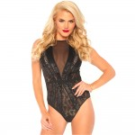 Leg Avenue Lace Teddy With Snap Crotch Body