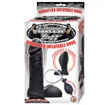 Mack Tuff Vibrating Inflatable Silicone Dong Black 7.5 Inch