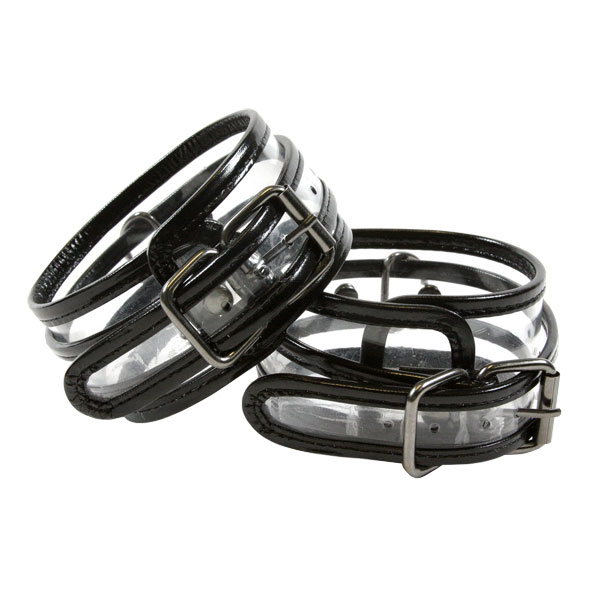 Bare Bondage Clear Vinyl Ankle Cuff Restraints