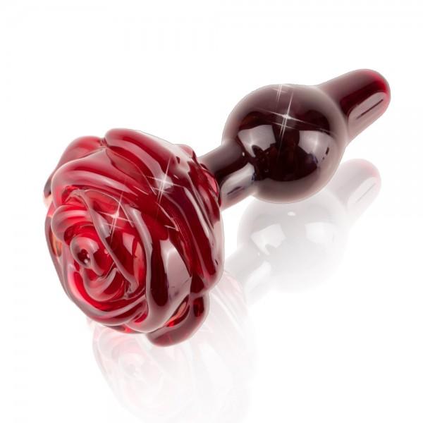 Icicles No. 76 Glass Rose Butt Plug
