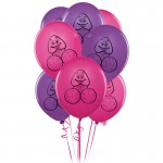 8 Pecker Party Balloons Hen Party