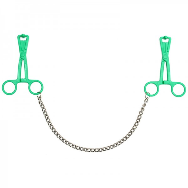Scissor Nipple Clamps With Metal Chain