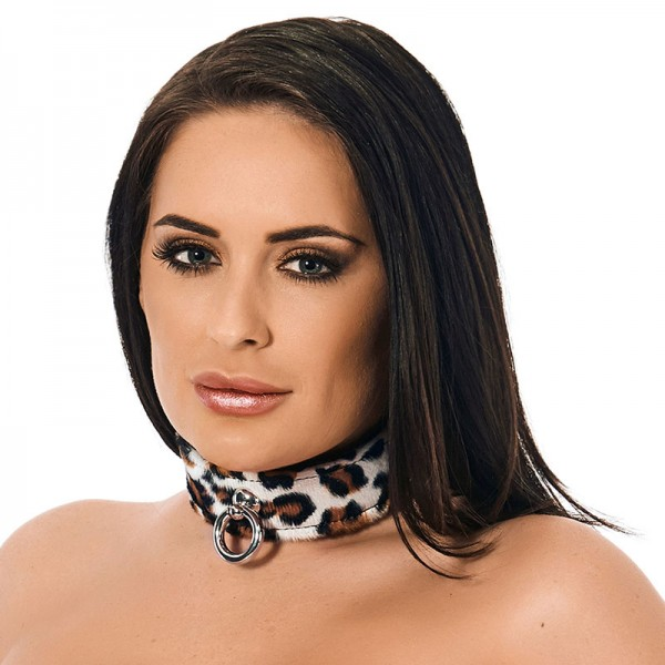 Leather Collar In Animal Print