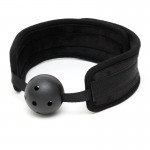 Black Padded Mouth Gag With Breathable Ball