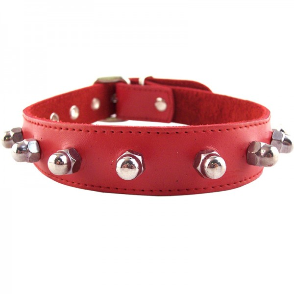 Rouge Garments  Nut Collar Red