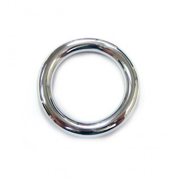 Stainless Steel Round Cock Ring 45mm By Rouge