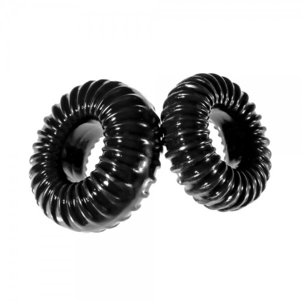 Perfect Fit XPlay Gear Slim Ribbed Cock Rings 2 Pack