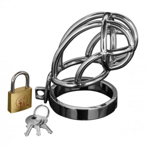 Stainless Steel Locking Chastity Cage By Captus