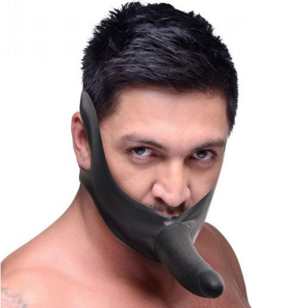 Latex Face Strap On and Mouth Gag
