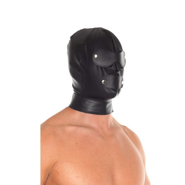 Genuine Leather Full Face Mask With Detachable Blinkers
