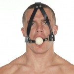 Leather Gag With Wooden Ball And Headstrap