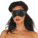 Leather Blindfold Mask With Rivets