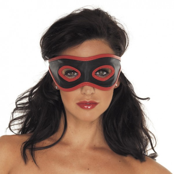 Leather Mask Red And Black