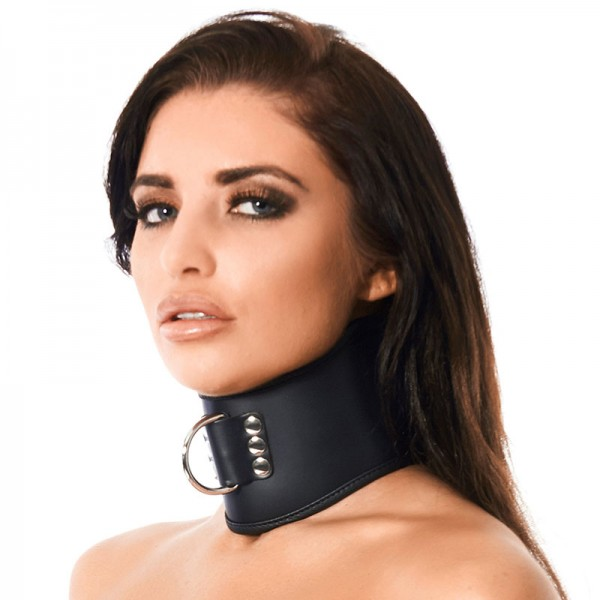 Luxury Leather Collar With Padlock