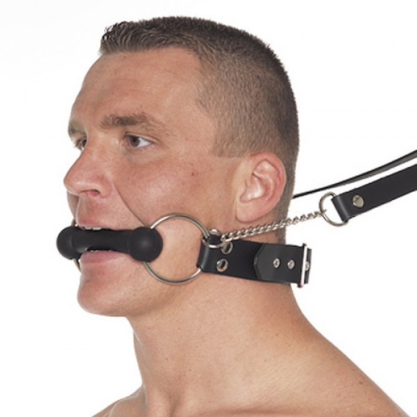 Leather Horse Bit Gag With Reins